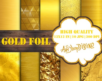 be04369f429b Gold Foil Digital Paper