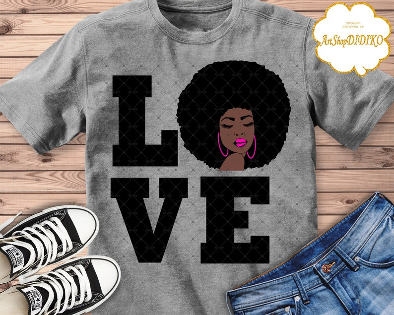 bbd720abb9f Afro Woman SVG, Love SVG, Afro Queen SVG, Black History Month Svg, Black  Woman Svg, Birthday Queen Svg, Diva Svg, Silhouette, Afro Girl Svg