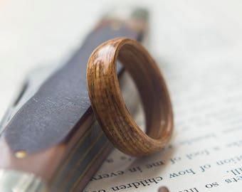 Mens Wooden Wedding band made from Oak, Mens wedding band
