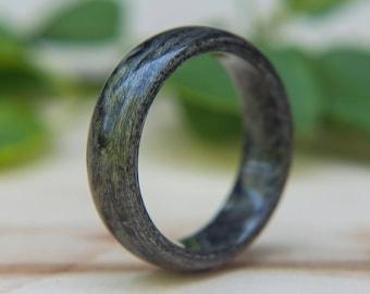 Mens Wedding band made from Grey birds eye Maple, mens wood wedding ring