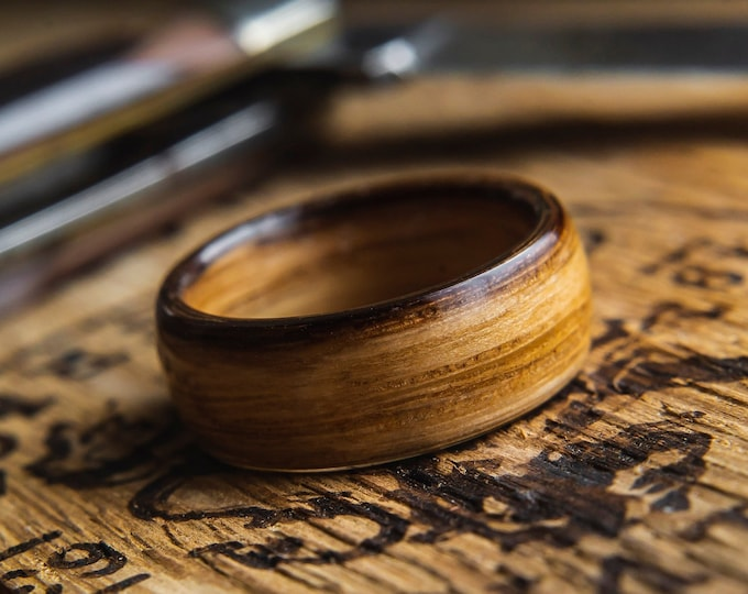 Mens Wedding band made from Whisky Barrel,  Whisky Barrel Ring, Mens promise ring, Wooden ring