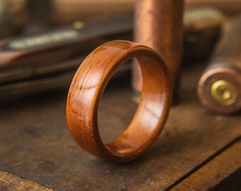 Mens Wedding Band made from Koa, Mens wedding ring, wooden ring