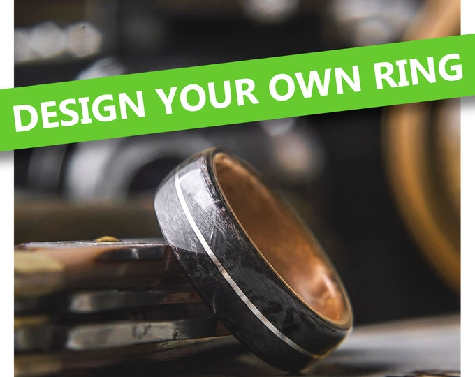 Design your own Mens Wood Wedding Band.  Mens wedding ring, mens wood wedding band