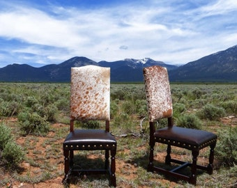 Colton Cowhide Chair + Western + Lodge + Cowhide Dining Chair