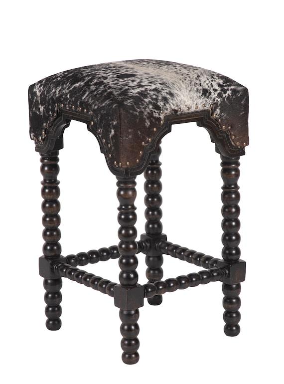 Surprising Black Bobbin Leg Cowhide Bar Stool Cowhide Barstool Stool 30 Salt Pepper Black Uwap Interior Chair Design Uwaporg