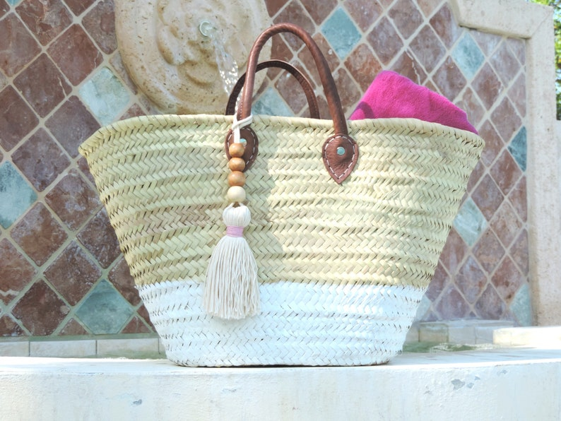 e9767d7fb76 rustic, two tone, Straw bag, beach bag, tassel, tassel bag, woven bag,  tote, weekend tote, moroccan bag, french market bag