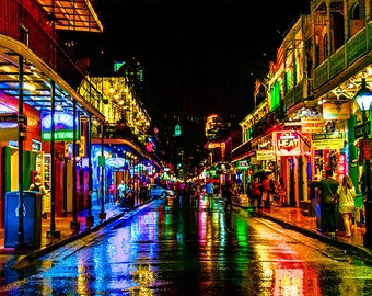 Rainy Night on Bourbon Street