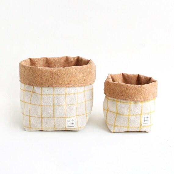 Basket Vichy mustard