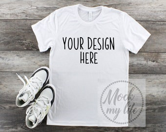 Download Free White Bella Canvas 3001 Styled Flat Lay Mockup / White Shirt Mockup / Styled Flat Lay / Bella Canvas Mockup / Tshirt Mockup / White Shirt PSD Template