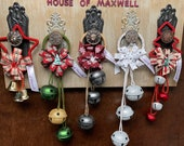 "Stars and Tree holders and 12"" Christmas Door Knob Hangers"