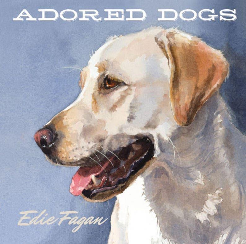 Dog Book Dog Portrait Book Watercolor Dog Portraits Dog image 0