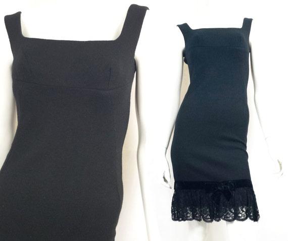 Vintage 1960's DollyRockers Wiggle Shift Dress in