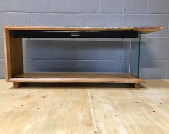 Floating Sound Bar Epoxy Resin & Oak Tv Stand No.1