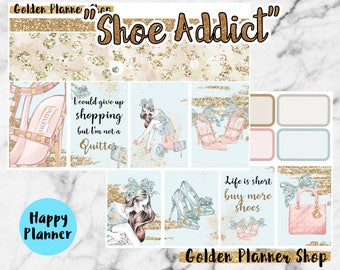 Shoe Addict Weekly Sticker Full Kit, Planner Stickers for Happy Planner