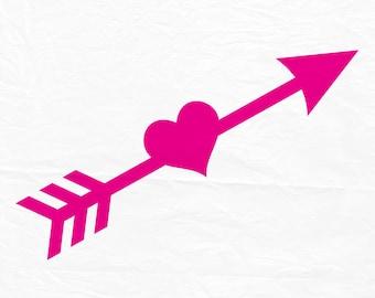 Arrow Heart Etsy