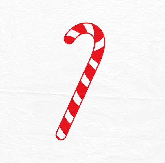 Christmas Candy Cane.Candy Cane Svg Christmas Svg Christmas Candy Svg Silhouette Cut Files Cricut Cut File