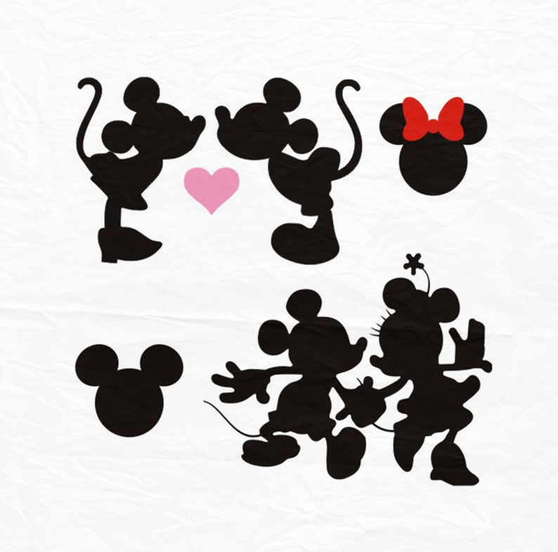 Minnie Mickey Bacio Svg Bacio Svg Minnie Mickey Amore Svg Etsy
