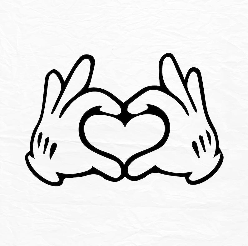 Glove Mouse Hand Heart Love Design Love Svg Disney Heart Etsy
