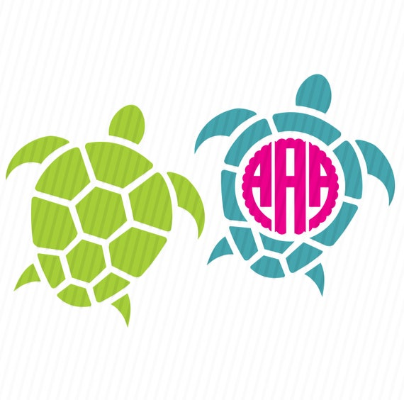 Download Sea Turtle Monogram SVG Sea Turtle SVG Sea Turtle Monogram ...