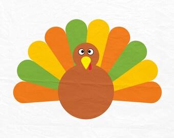 Turkey SVG, Thanksgiving SVG, Thanksgiving, Turkey Clipart, Turkey Feathers, Silhouette Cut Files, Cricut Cut Files