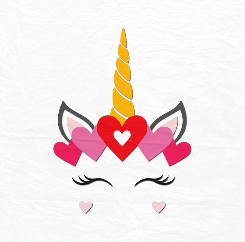 Valentine Unicorn SVG, Unicorn Head SVG, Unicorn Clipart, Unicorn Eyelashes  SVG, Unicorn Face Svg, Svg Files, Cricut, Silhouette Cut Files