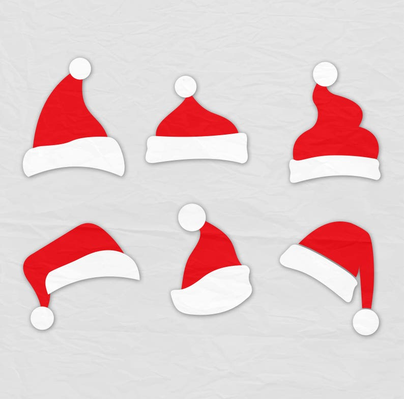 1bdb6f2c74d78 Santa Hat SVG Clipart Christmas Santa Claus Hat Clip Art Svg