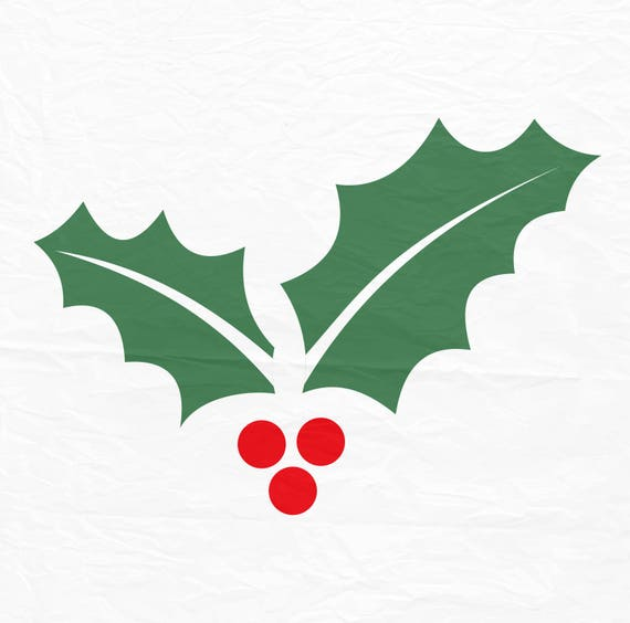 Christmas Holly Silhouette.Christmas Holly Svg Holly Svg Winter Svg Christmas Svg Silhouette Cut Files Cricut Cut Files