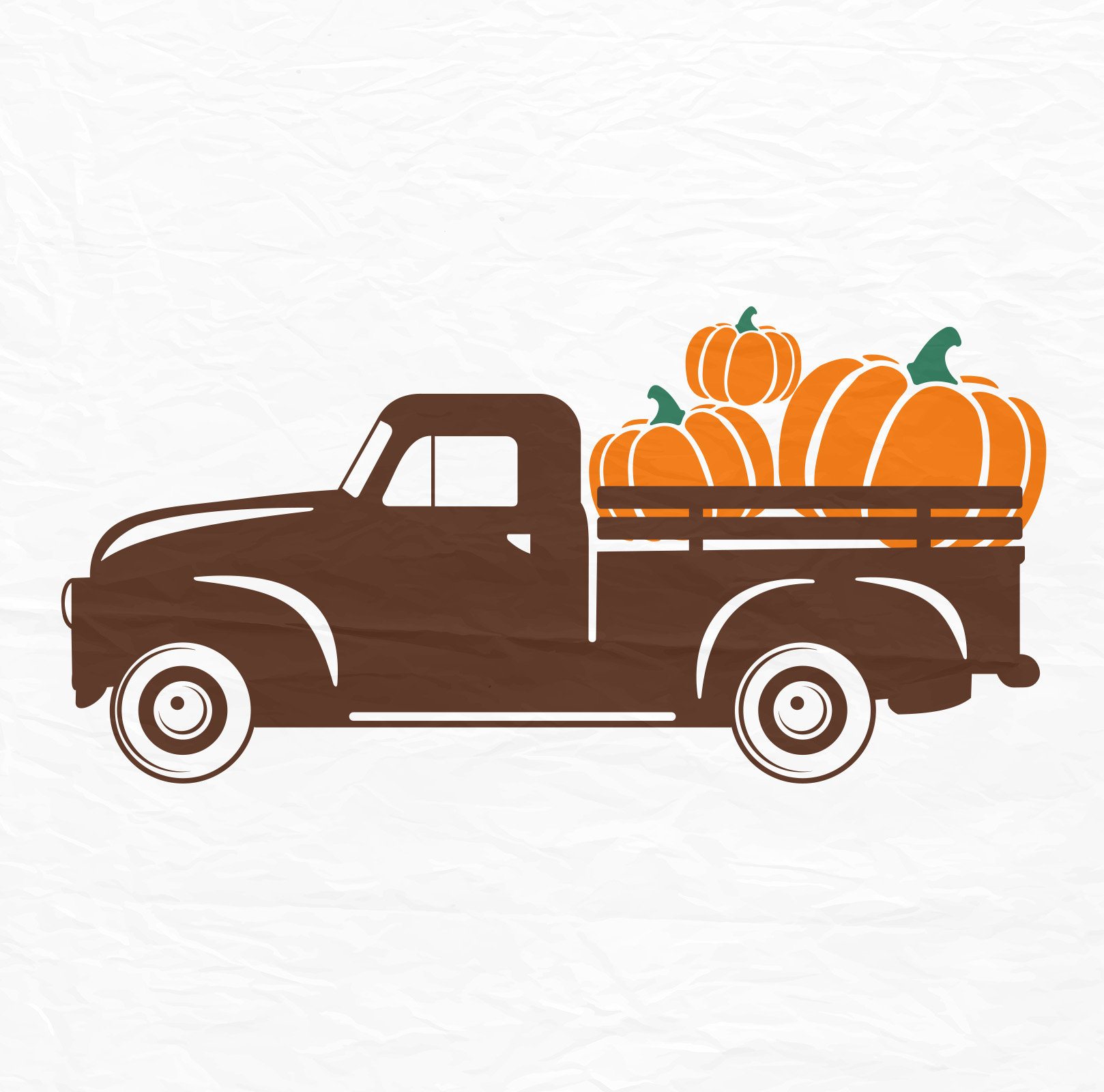 Pumpkin Truck SVG Antique Truck SVG Halloween SVG Fall Svg ...