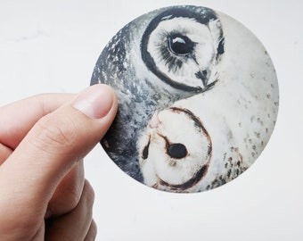 Yin-Yang Owl Sticker