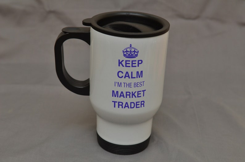 Travel Stainless White GiftKeep The Trader Christmas Steel Best I'm Market MugBirthday Calm uiPZOkTX