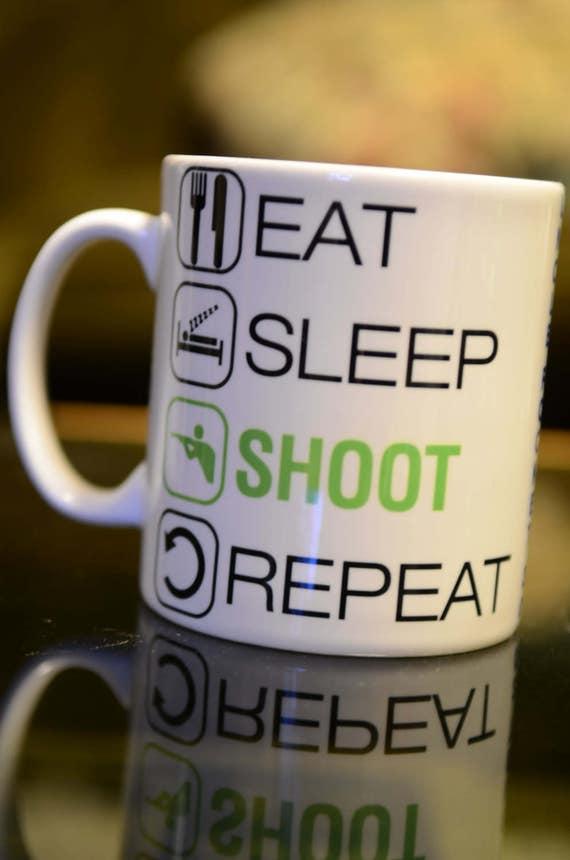 EAT SLEEP Jetski Sublimation Mug Birthday Gift Sport Hobby Personalised Name