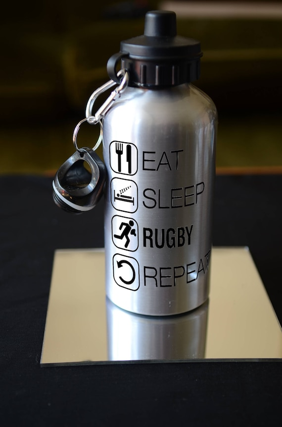 Rugby Water bottle personalised