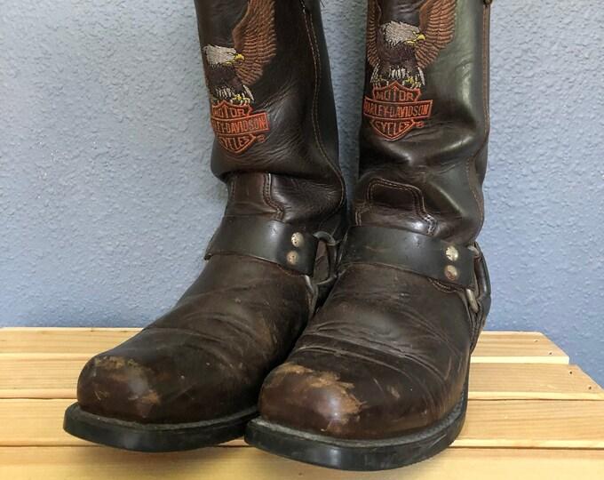 Vintage Harley Davidson Harness Motorcycle Boots