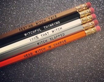 Witch Pencil Set