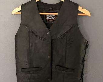 Vintage Leather Biker Vest