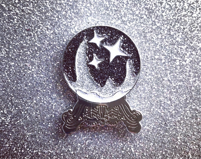 Crystal Ball Pin - Black & Silver Edition
