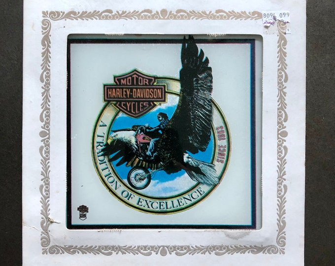 Vintage Harley Davidson Carnival Mirror