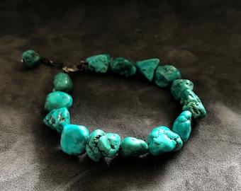 Vintage Chunk Turquoise Bracelet