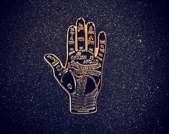 Black Palmistry pin