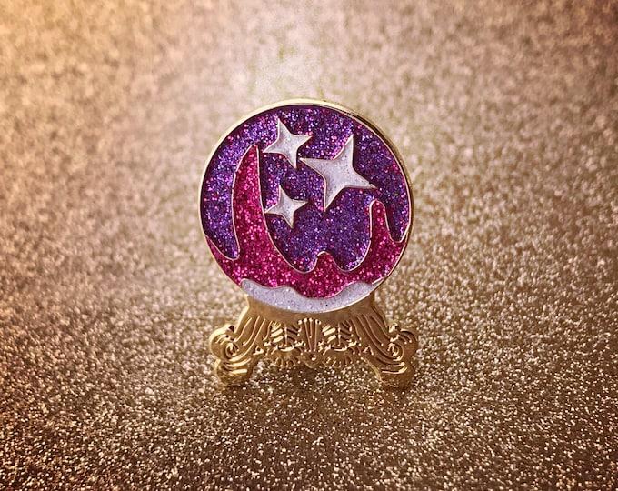 Crystal Ball Pin - Purple Emoji Version