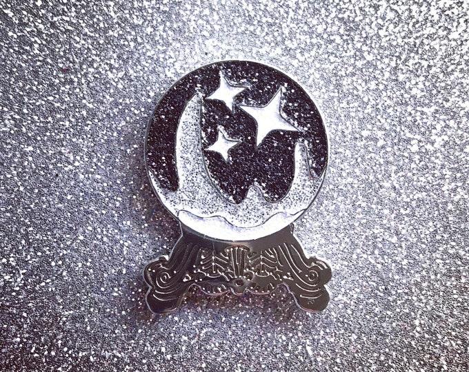 Crystal Ball Pin - Black & Silver Edition