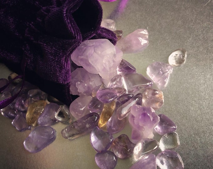 Magical Crystal Pouch - Amethyst Blend
