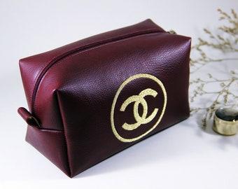 57fdb3970ee5 Handmade Chanel inspired make up bag