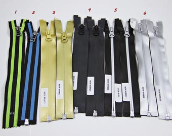YCC Zippers, waterproof zippers, metal Separeting Zippers, 7""