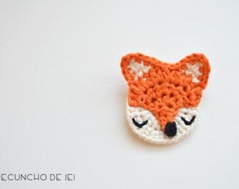 Fox brooch, crochet brooch, crochet fox clasp, Fox crochet, Cotton crochet fox, Cute crochet Fox Brooch, Fox Accessory