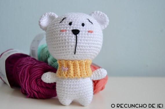 Bear amigurumi, ripieno di amigurumi orso, orso, animali giocattolo, giocattolo del bambino all'uncinetto, baby giocattolo, Teddy, Teddy bear, orso