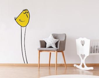 The Yellow Fella WallDecal  for Girls & Boys, Nursery Room Decor, Wall Art, Baby Kids Room, Wall Decal
