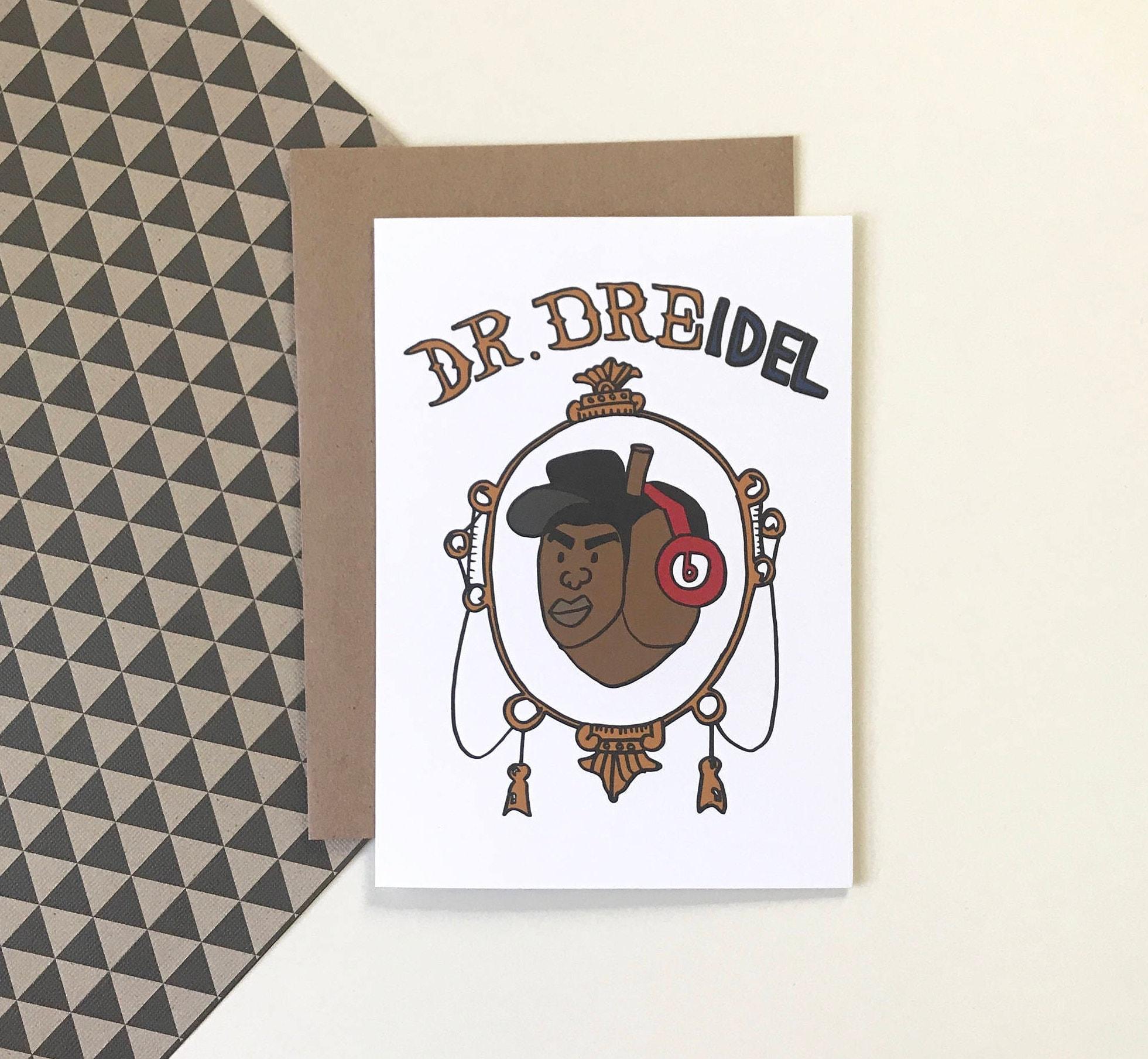 Dr Dreidel Hanukkah Greeting Card Etsy
