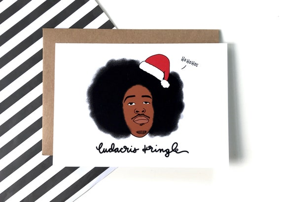 Ludacris Christmas.Ludacris Kringle Christmas Holiday Greeting Card