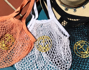 Net Bag, Beach Bag, Grocery Bag, Market Bag, Reusable Bag, Eco-Friendly Bag, Grocery Bag, Tote Bag, Shipping Bag, Mesh Bag, String Bag